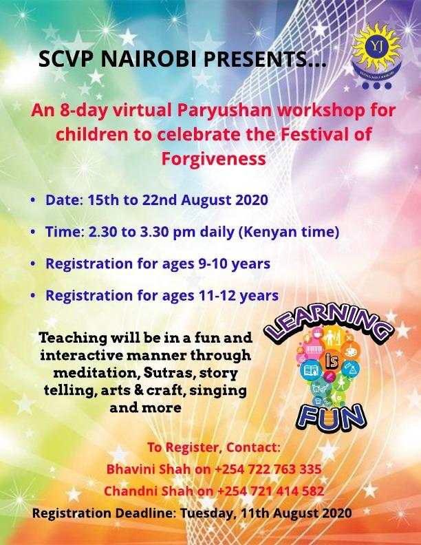 kenya virtual paryushan workshop